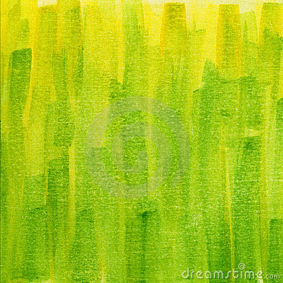 Green And Yellow Grunge Watercolor Texture Royalty Free