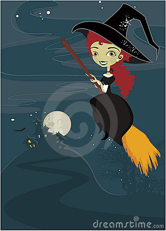 Cute Styles Girl Wallpaper Halloween Cute Witch Background Royalty Free Stock