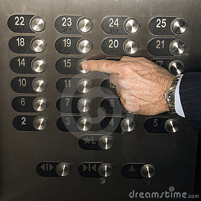 Hand Pushing Elevator Button Royalty Free Stock Images  Image 12751269