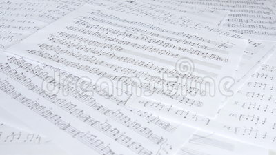 Handwritten Musical Notes stock video. Video of chord