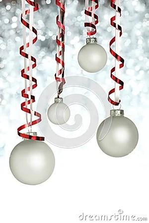 Hanging Christmas Ornaments Stock Image Image 11711921