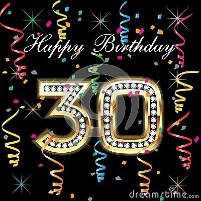 Happy Birthday 30 Royalty Free Stock Photos Image 19222258