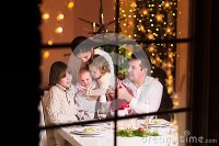 Happy Family At Christmas Dinner Stock Photo - Image: 44886451