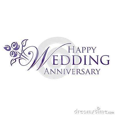 Happy Wedding Anniversary Stock Image Image 26278681