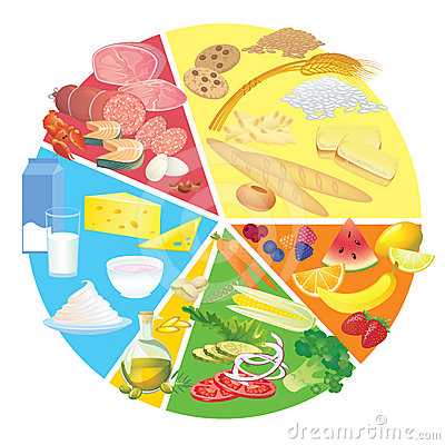 Diagram Of Germs Healthy Nutrition Food Plate Rule Stock Photos Image