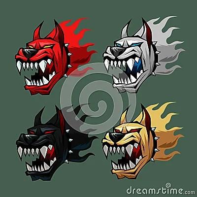 Hell Dog Head Royalty Free Stock Photos  Image 19944928