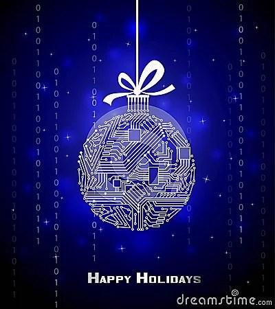 Hi Tech Christmas Background Stock Vector Image 48032898