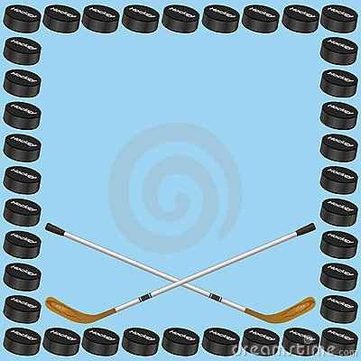 Hockey Background Card Royalty Free Stock Photography