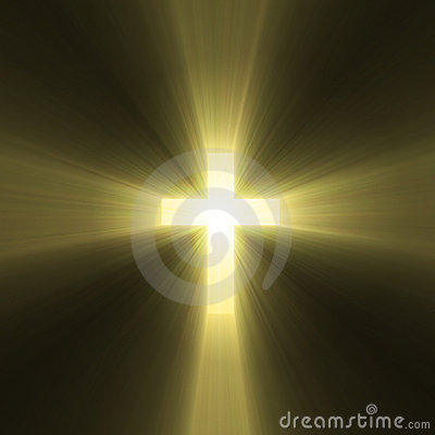 Holy Cross Symbol Sun Light Flare Stock Images Image