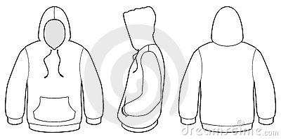 Hooded Sweater Template Vector Illustration. Royalty Free