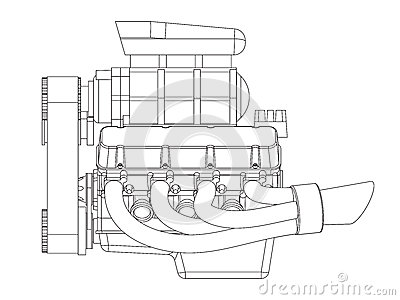 Car With V8 Engine, Car, Free Engine Image For User Manual
