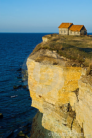 House On Seaside Cliff Royalty Free Stock Photos  Image