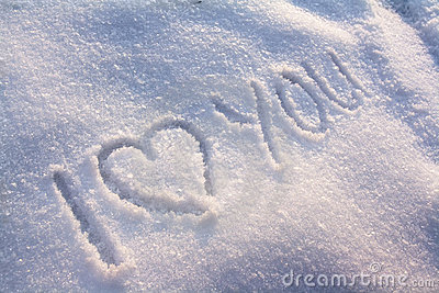 Snow Falling Wallpaper Download I Love You Snow Stock Photography Image 12432522