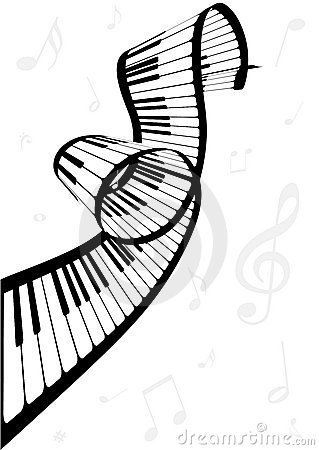Illustration Of A Piano And Music Notes Stock Photo