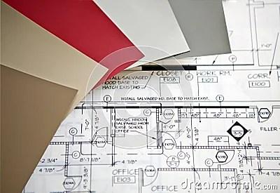 Interior Design Plans Stock Image - Image: 18663671