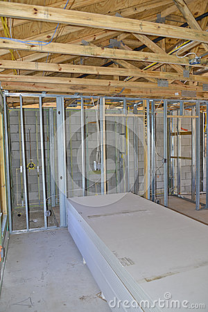 Interior Home Construction Stock Photo  Image 38876836