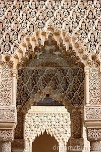 Islamic Art And Architecture, Alhambra In Granada Royalty ...