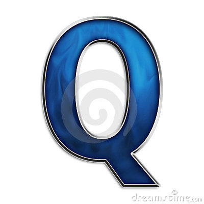 Isolated Letter Q In Tribal Blue Stock Image Image 5022091