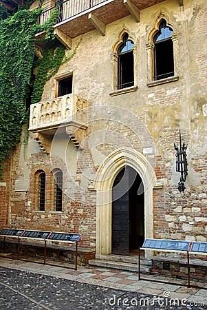Juliet S House Verona Italy Royalty Free Stock