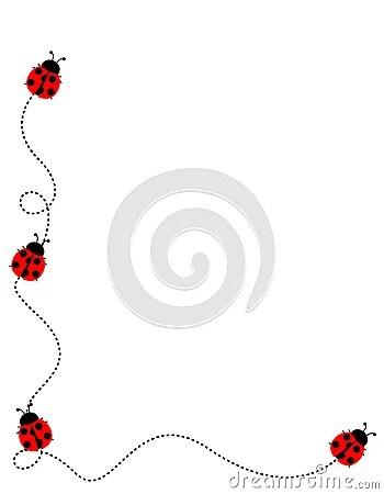 ladybug frame border royalty free
