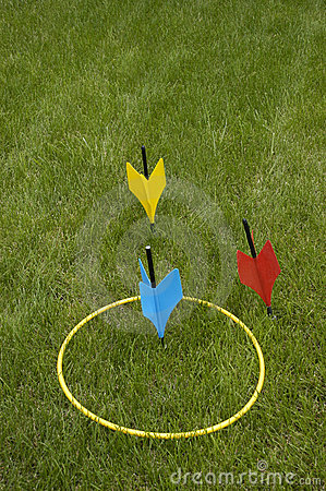 Lawn Darts Popular Family And Party Jarts Game Stock