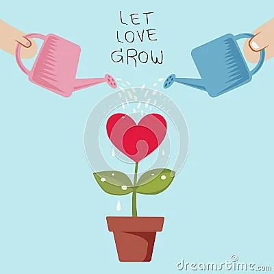 Download Let Love Grow Stock Vector - Image: 49577836