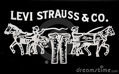 Black 3d Brick Wallpaper Levi Strauss Jeans Logo Editorial Stock Photo Image