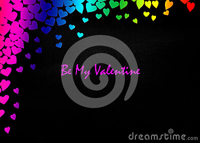 LGBT Valentines Day Card Valentines Day party invitation flyer background