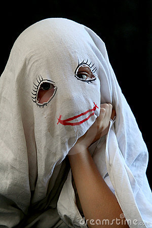 Little Funny Ghost Royalty Free Stock Images  Image 1235909