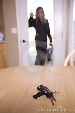 We say yes car credit need car credit? Locked Out Of House Royalty Free Stock Photo - Image: 13558555