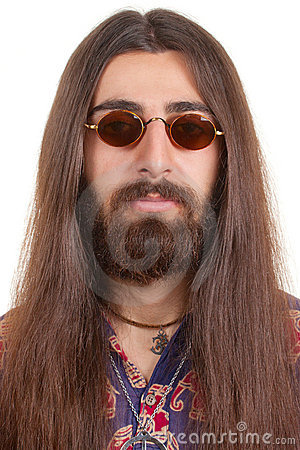 Long Haired Hippie Man Stock Photo Image 19487150
