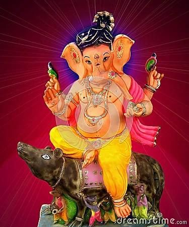Vinayagar Animation Wallpaper Lord Ganesha Sitting On Mouse Royalty Free Stock Images