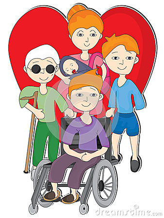 Love Disability People_eps Stock Image  Image 27778501