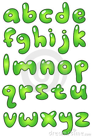 Lower Case Eco Bubble Alphabet Royalty Free Stock