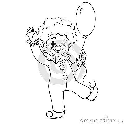 Malbuch Für Kinder: Halloween-Charaktere (Clown) Vektor