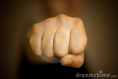Male Fist Front View Royalty Free Stock Images Image