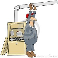 Man Installing A Furnace Stock Photography - Image: 25051562