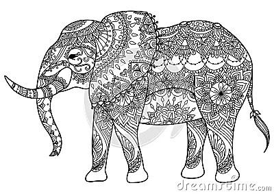 Mandala Elephant Stock Vector Image 68300814