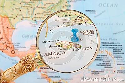 Mappa Di Kingston Giamaica Fotografia Stock  Immagine 50306849