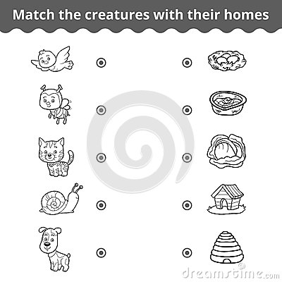 All Worksheets » Animals And Their Homes Pictures