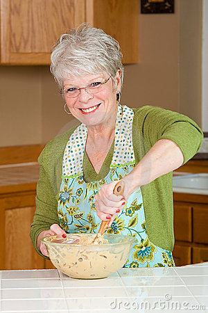 Mature Woman Cooking Royalty Free Stock Photo Image