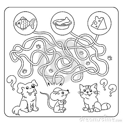 Maze Or Labyrinth Game For Preschool Children. Puzzle