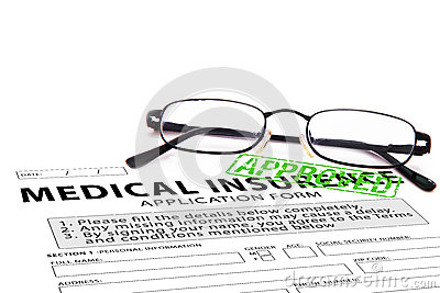 Medical Insurance Application Form With Green Approved