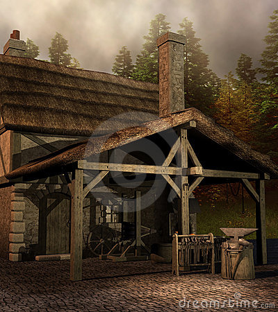 Wine 3d Wallpaper Medieval Blacksmith House Stock Images Image 23125884