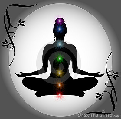 Animation Hd Wallpapers 1080p Meditation Silhouette With Chakra Points Royalty Free