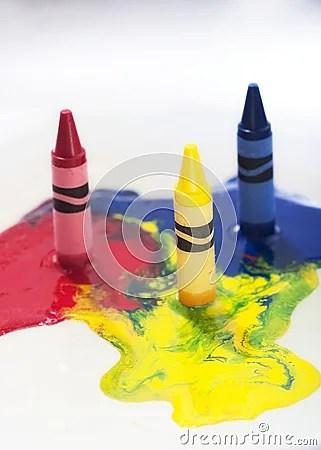 Melting Crayons Stock Photography  Image 9121382