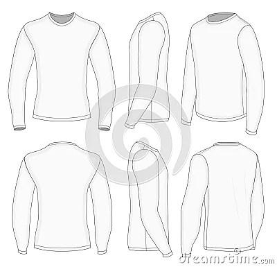 Mens White Long Sleeve T Shirt Royalty Free Stock Image Image 38047256