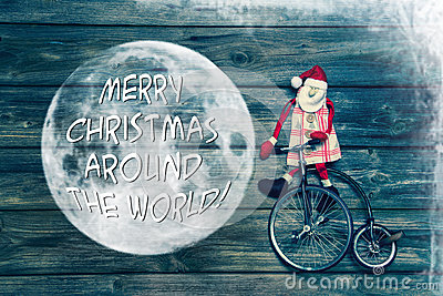 Merry Christmas Around The World Greeting Card With Text
