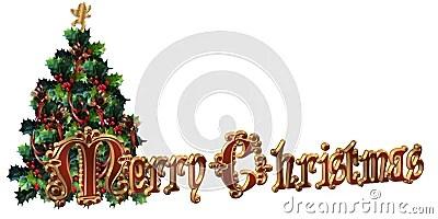 merry christmas label design 3d