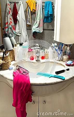 Messy Bathroom Stock Image  Image 29761701
